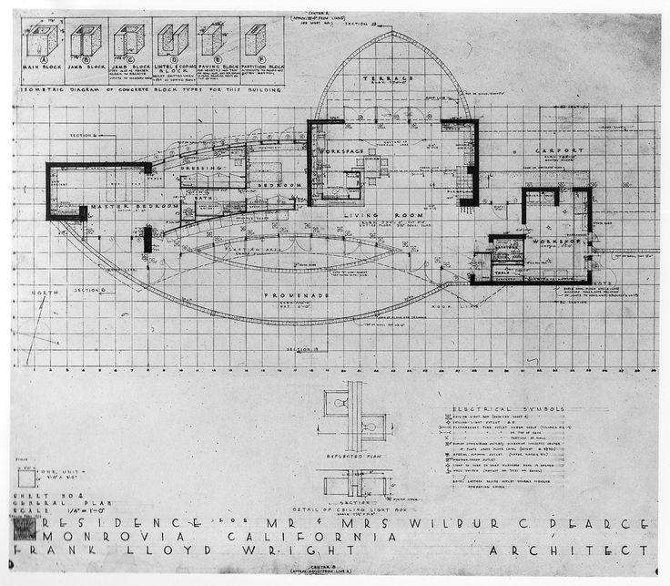Falling Waters Frank Lloyd Wright Blueprints