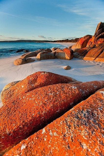 Bay of fire, Tasmania