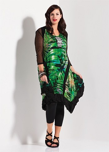 #TS14+ Jungle Crushed Dress  #plussize #curvy #racewear