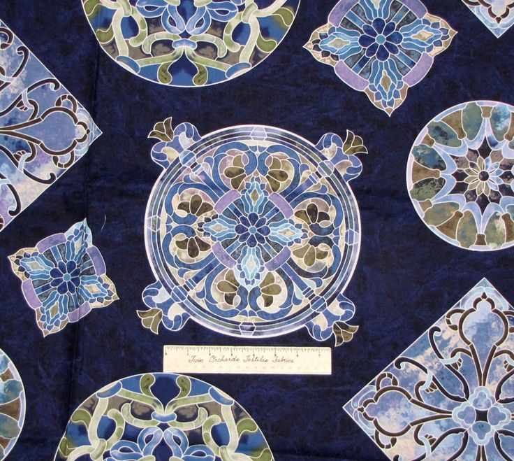 Timeless Treasures - Mosaic C8611-Navy
