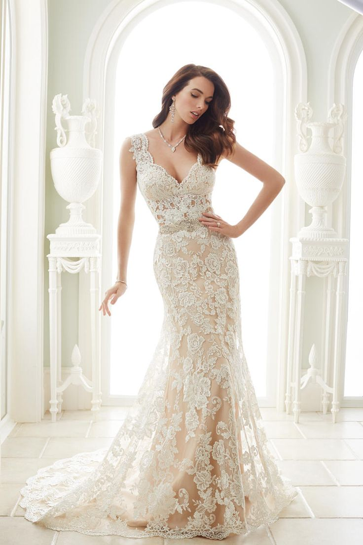 sophia tolli spring 2017 shows glamorous ball gowns wedding dresses with lacesheath