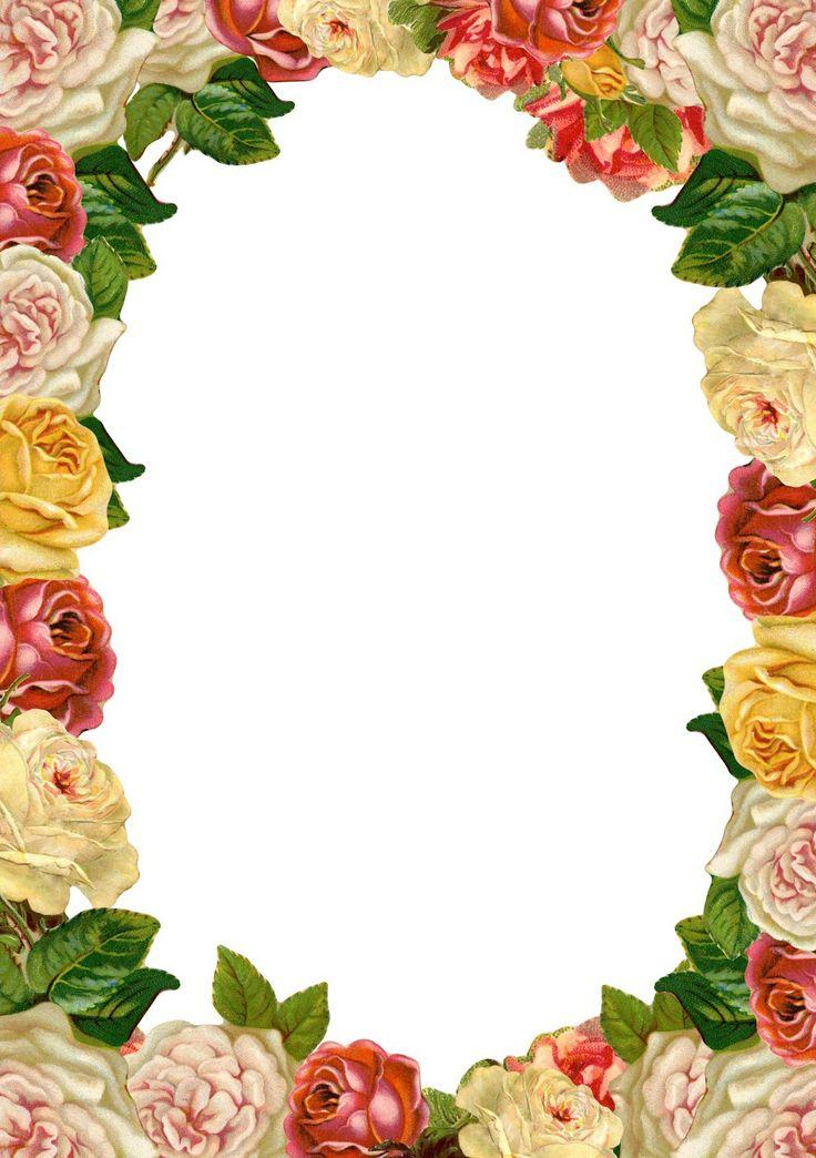 FREE printable vintage rose stationery