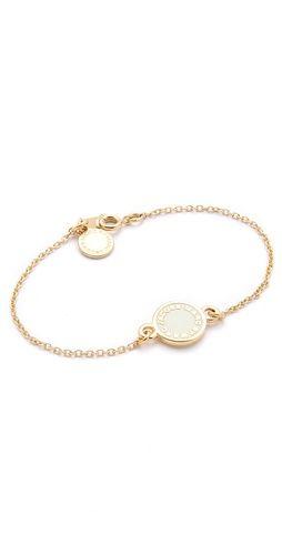 Marc Jacobs Dreamy Logo Enamel Disk Bracelet