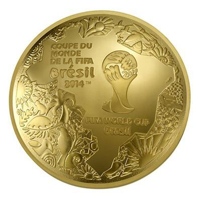 Domed Shaped 2014 FIFA World Cup Coin