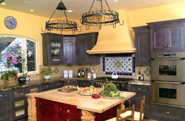 mediterranean style kitchen.