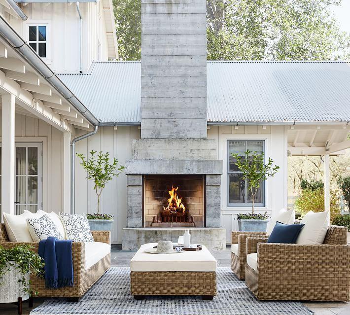 Outdoor Courtyard Ideas Outdoor Fireplace Patio Patio Decor
