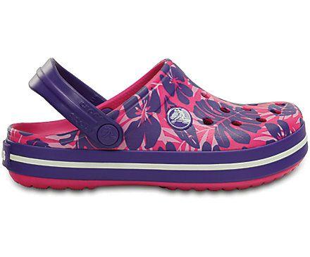 Kids' Crocband™ Tropical Print Clog | Comfortabele schoenen | Officiële Crocs website maat 23-24