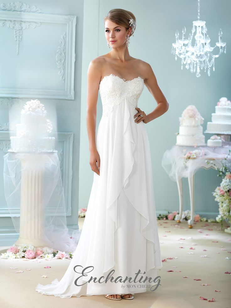 Our Alyssa gown 215108 from Mon Cheri is available at Sincerely, The Bride located in the Vancouver, WA Portland Metro area. #sincerelythebride #oregonbride #nwbride