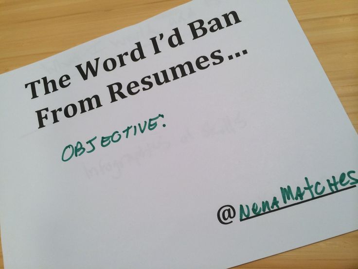 Do you need a resume objective?