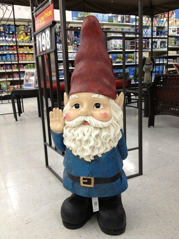 Gnome In Garden: 3-foot Tall Gnome