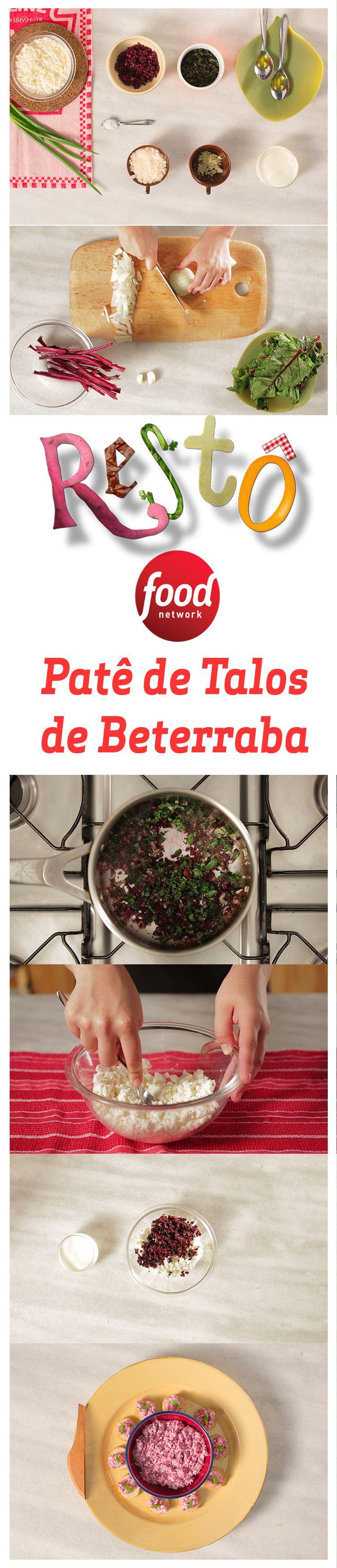 Essa receita de Patê de Talos de Beterraba é nutritiva, sustentável e fica uma delícia como acompanhamento para seus petiscos preferidos.
