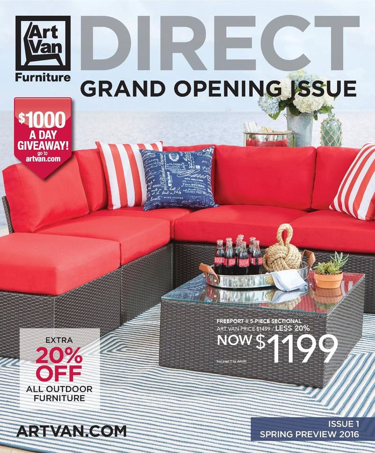 Art Van DIRECT Is The NEW Way To Buy From Art Van Furniture! Shown Above:  The Freeport II 5 Piece Sectional Is Trendy And Affordable.