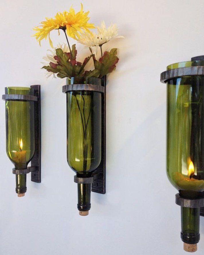#reuso com garrafas de vidro. #upcycle Pinterest: http://ift.tt/1Yn40ab http://ift.tt/1oztIs0  Imagem não autoral 