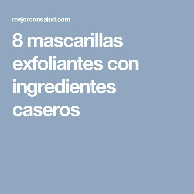 8 mascarillas exfoliantes con ingredientes caseros