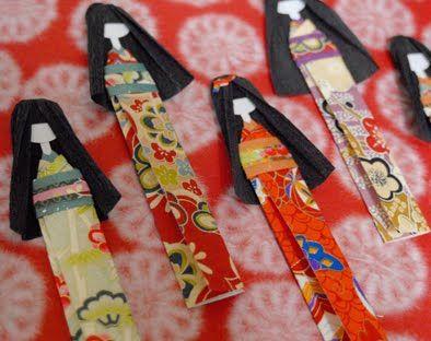 ACTIVITE - Poupées japonaises en papier à fabriquer - TUTO