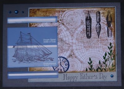 Ink Stains - Father's Day Card using paint chip & Just For Fun Rubber Stamps