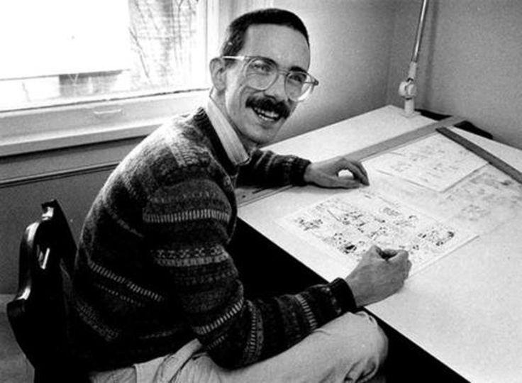 Bill Watterson draws Calvin and Hobbes