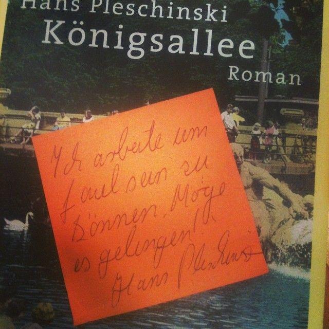 """""""Ich arbeite um faul sein zu können. Möge es gelingen"""" Hans Pleschinski #denkzettel #litmuc13"""