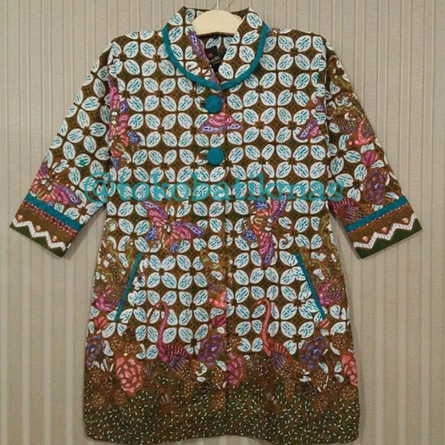 Dress Encim  Kain Batik Encim Sogan  Size XL  IDR 165.000