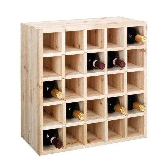 Casier Rangement Bouteilles Vin Bois Pin Naturel 25 Bouteilles Zeller En 2020 Casier Rangement Casier A Bouteille Et Rangement Bouteille De Vin