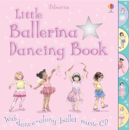 Little ballerina dancing book with dance-along CD  Each double page shows simple steps to dance to music from famous ballets such as Swan Lake, Sleeping Beauty and The Nutcracker. Dance-along ballet music CD provides music for each routine. Robust tabs on the pages enable children to quickly locate their favourite dances. Produced with the help of the Central School of Ballet. Music arranged and produced by Anthony Marks.
