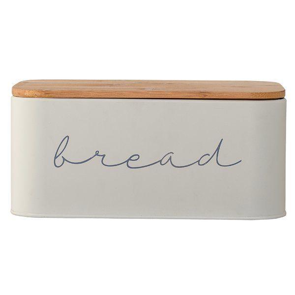 Serena Bamboo Metal Bread Box