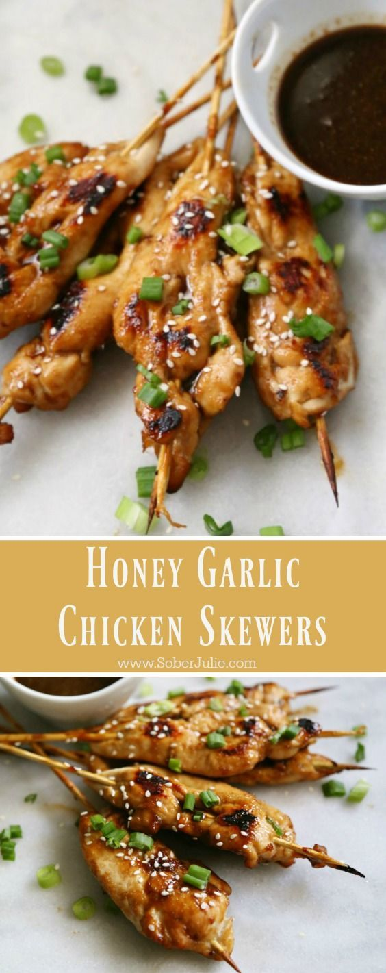 Honey Garlic Chicken Skewers - yummy appetizer recipe for any party