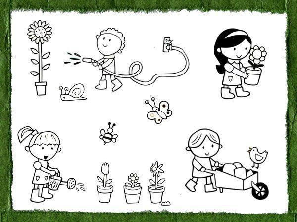 Dibujos Para Pintar Con Los Niños Sobre El Amor A La Naturaleza Cuidado De La Naturaleza Dibujos Dibujos Para Pintar