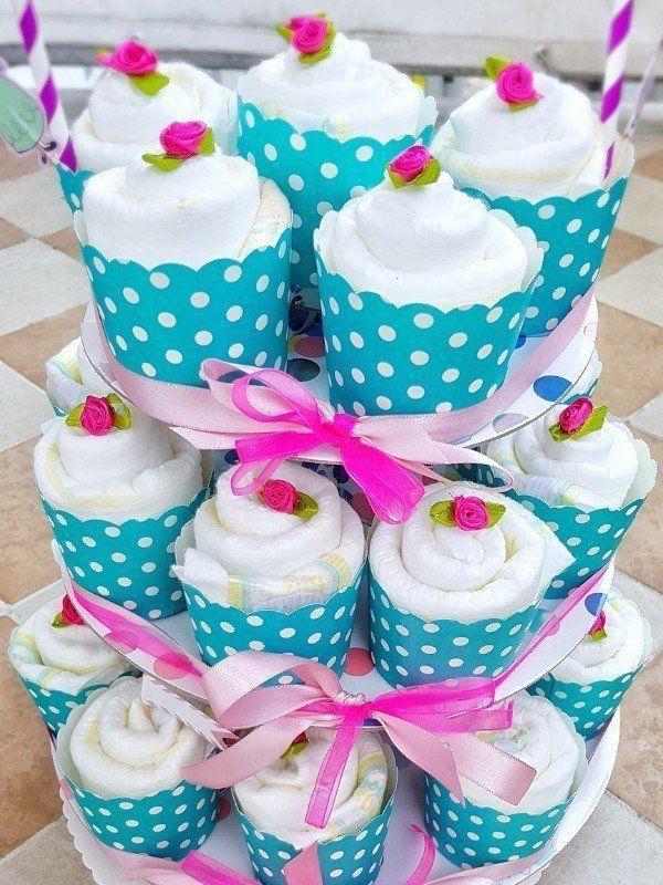 Hallo Baby Windel Cupcakes Geschenk Zur Geburt Geschenke Zur