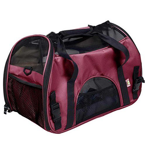 Pet Carrier Dog Bag Designer Dog Carrier Bags for Puppy Medium Dog Transport Bag Carriers for Cats Pet Bag L 48 24 32 cm Red * More info could be found at the image url.(This is an Amazon affiliate link and I receive a commission for the sales)