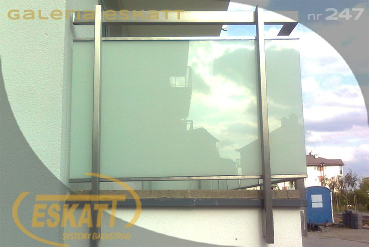Frosted glass balustrade on stainless steel profiles #balustrade #eskatt #construction #balcony