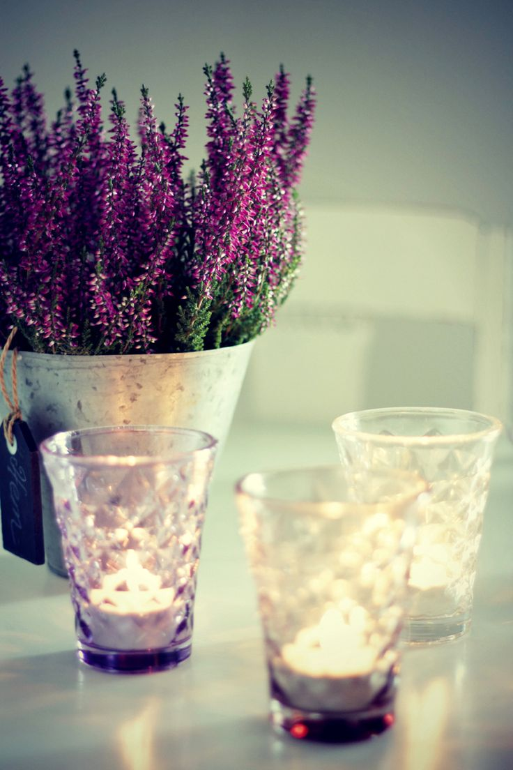 We have beautiful glasses like this that could be turned into candle holders!