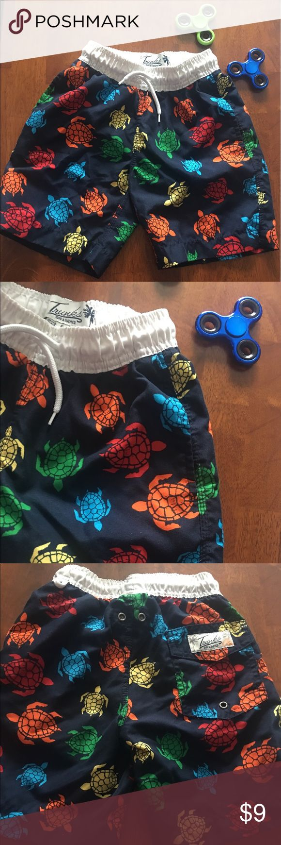 Preloved Size 5 Boys Swim Trunks 🐢like new 🌟 So fun & adorable. Lots of life left in these cute boy's swim trunks. Swim Swim Trunks