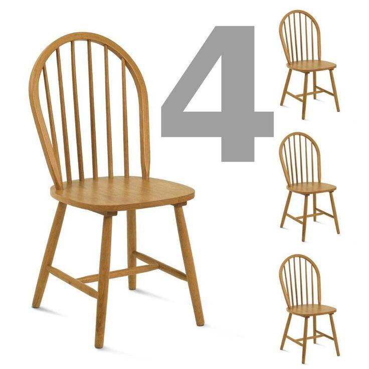 Cadeira Jogo de Cadeiras de Madeira Maciça Windsor - 4 cadeiras | Iaza Móveis de Madeira