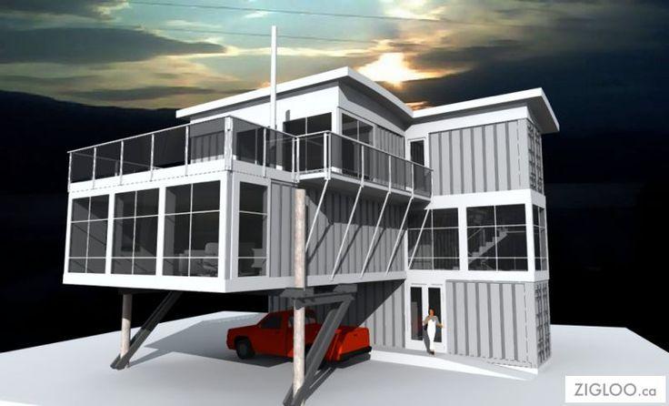 Best 25 container habitable ideas on pinterest maison conteneur maisons c - Container pour habitation ...