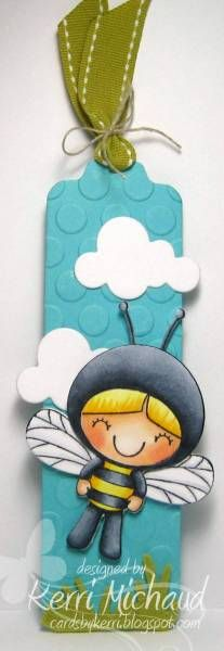 Bee Bookmark by girlydecou - Cards and Paper Crafts at Splitcoaststampers