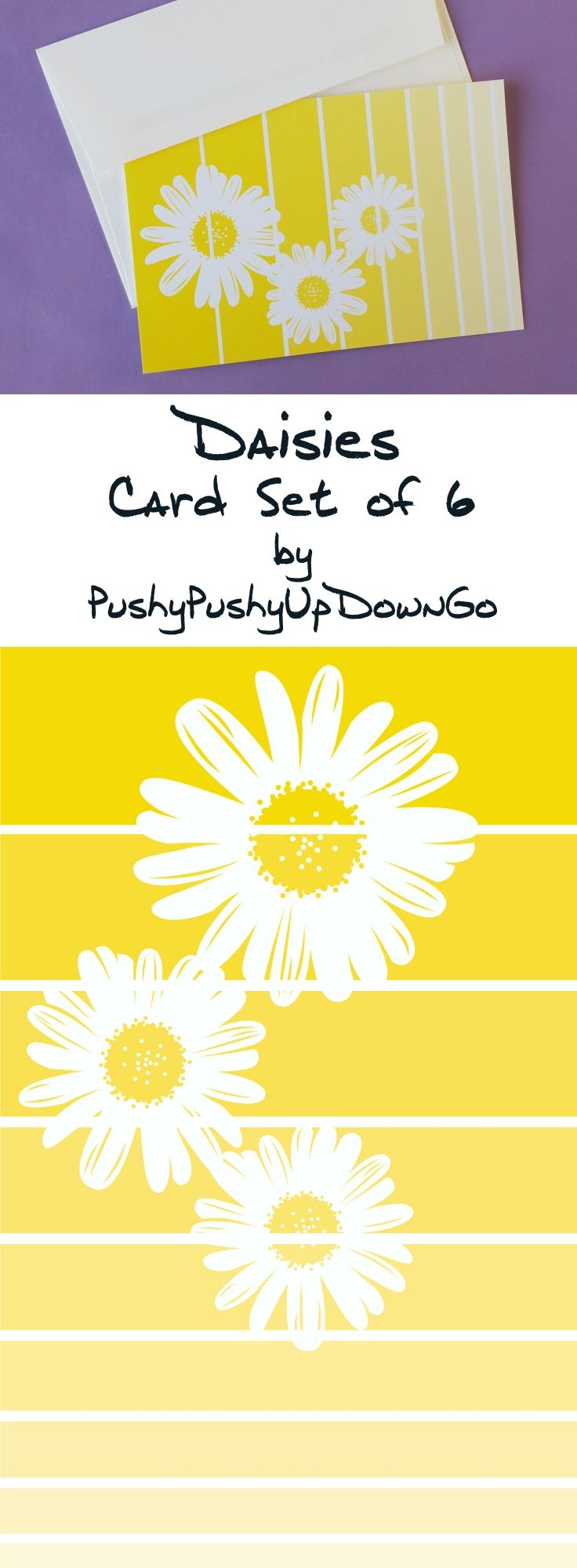 Yellow Daisy Spring Note Cards Set, Flower Art Print Greeting Card & Thank You Cards Set #card #cards #notecard #notecards #greetingcard #greetingcards4sale #greetingcardsforsale #greetingcards #flowers #flowerpower #flowercard #flowerartwork #flowerart #springtime #spring #springcardideas #summer #summertime #springflowers #summerflowers #daisy #daisies #gerberdaisies #yellowdaisy #yellowdaisies #yellow #yellowandwhite