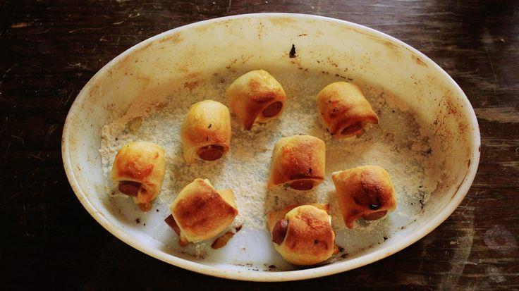 A Ruiva: Sausage rolls   Rolinhos de salsicha