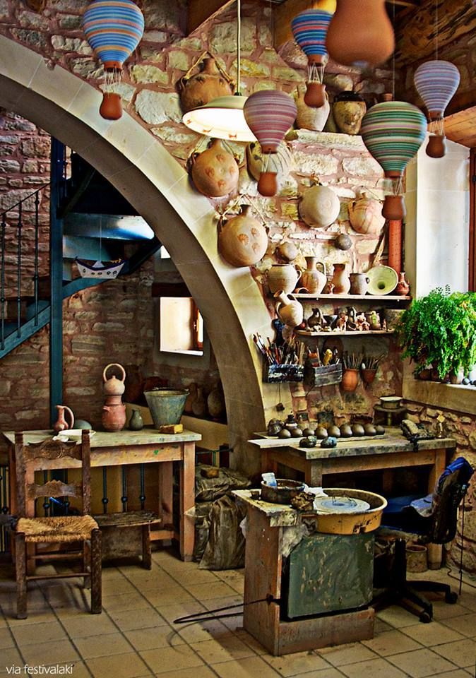 Ceramics atelier in Margarites village, Rethymnon countryside-Crete,Greece