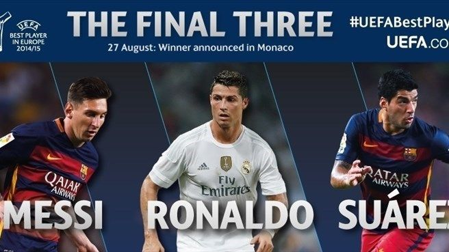 SPORTCHIN: THE FINAL THREE NOMINEES: RONALDO, MESSI OR SUAREZ...