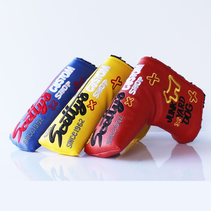 Colorful Dog Golf Headcover for Blade Golf Putter  Golf Putter Cover Free Shipping