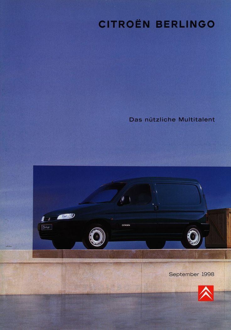 https://flic.kr/p/G7zkwD | Citroen Berlingo - Das nützliche Multitalent; 1998_1 | front cover car brochure by worldtravellib World Travel library