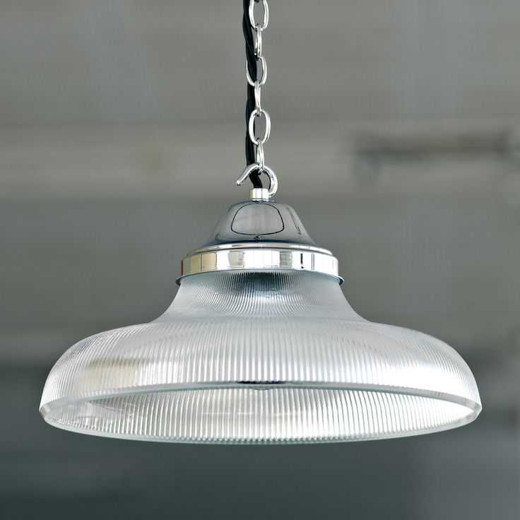 An attractive #solid #brass #pendant #light with ribbed #glass shade