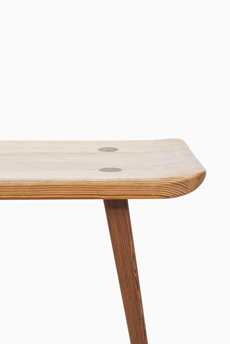 Hand made reclaimed cedar box joint bench coffee table by - Carl Malmsten Visings Bench By Svensk Fur At Studio Schalling Malmsten Retro