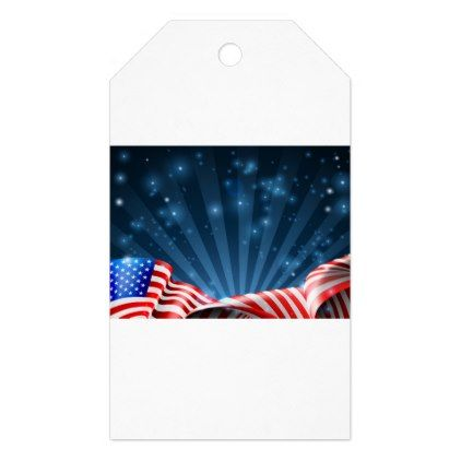 American flag patriotic or political design gift tags - veterans day us patriot holiday usa vets