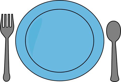 Dinner Plate and Utensils Clip Art - Dinner Plate and ...
