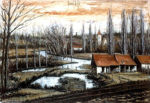 Bernard BUFFET ( 1928 - 1999 ) - Peintre Francais - French Painter ♥ Inspirations, Idées & Suggestions, JesuisauJardin.fr, Atelier de paysage Paris, Stéphane Vimond Créateur de jardins ♥