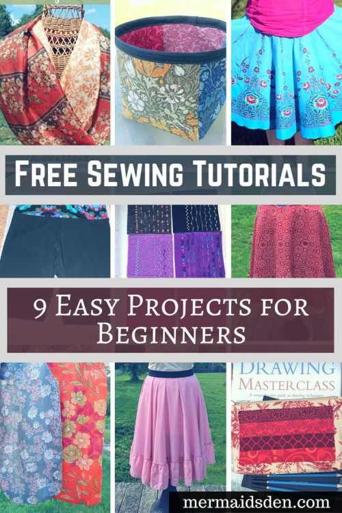 Free Sewing Tutorials 9 Easy Projects for Beginners