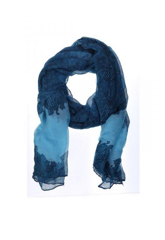 Amust Lace scarf blue 1153