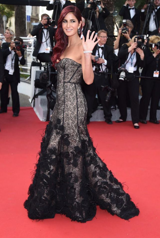 Katrina Kaif Cannes Film Festival Day 1  #oscardelarenta  #lorealparis #cannes2015 #redcarpet